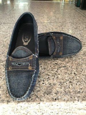 Tod's Mokassin in Jeans, Gr. 39, seltenes Modell
