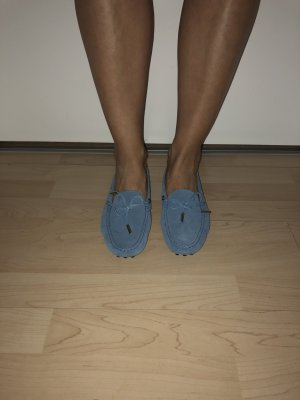 Tod's Moccasins blue leather