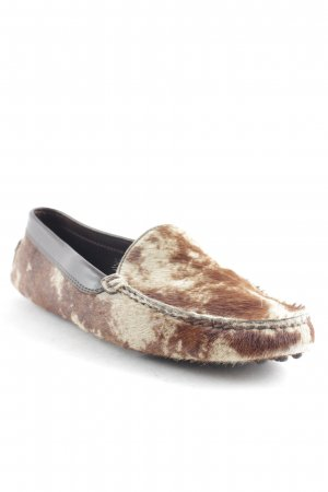 Tod's Moccasins camel-brown animal pattern extravagant style