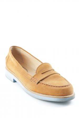 Tod's Moccasins camel-slate-gray classic style