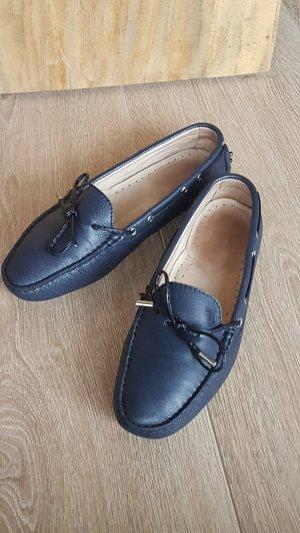 TOD'S mokassins loafer slipper leder dunkelblau gr.39