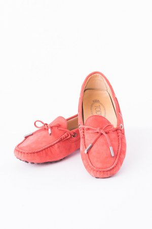 Tod's Mocassins saumon-rouge clair cuir