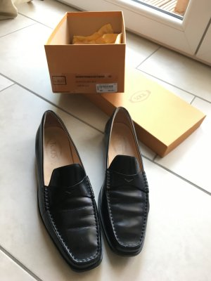 Tod's Moccasins black leather