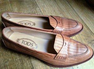 Tod's Zapatos sin cordones marrón claro-marrón grisáceo Cuero