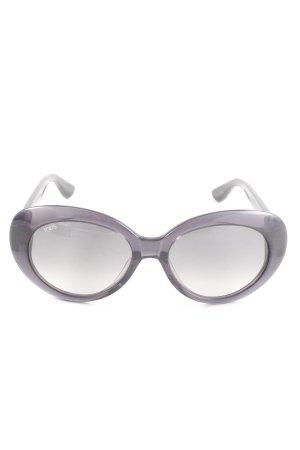 Tod's ovale Sonnenbrille schwarz Business-Look