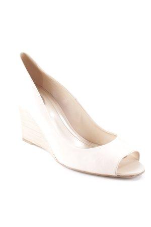 Tod's Peep Toe Ballerinas cream-beige elegant