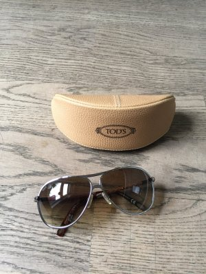 Tod's Aviator Glasses camel-brown