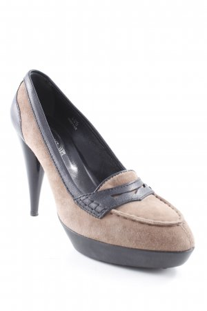 Tod's Platform Pumps black-light brown elegant