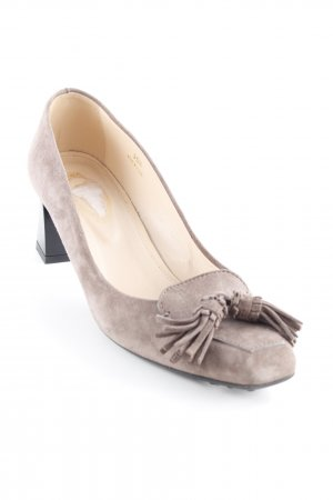 Tod's Plateau-Pumps taupe Casual-Look