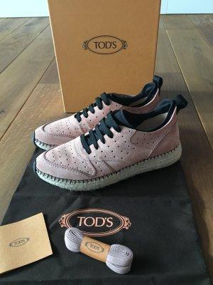 Tod's - Plateau-Sneaker aus Veloursleder (NP 540 EUR)