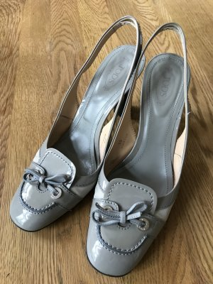 TOD'S Pumps Grau Lackleder