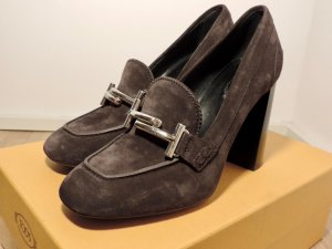 Tod's High Heels black brown leather
