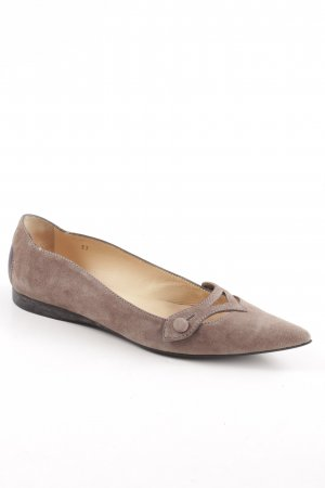 Tod's Strappy Ballerinas brown casual look