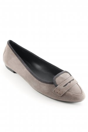 Tod's Strappy Ballerinas grey brown business style