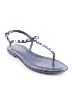Tod's Sandalen met bandjes donkerblauw-zilver casual uitstraling