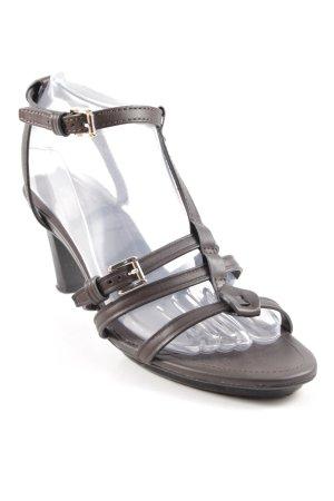 Tod's Riemchen-Sandaletten dunkelbraun-silberfarben Elegant
