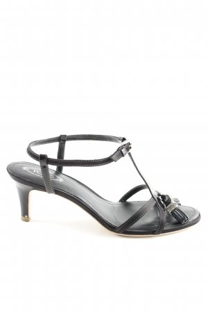 Tod's Sandales à talons hauts et lanière noir élégant