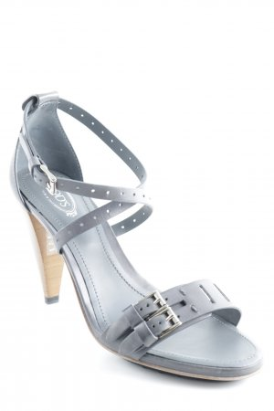 Tod's Strapped High-Heeled Sandals grey street-fashion look