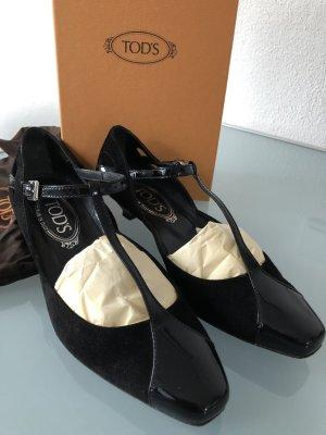 TOD'S Riemchen Schuhe, Größe 37, Schwarz