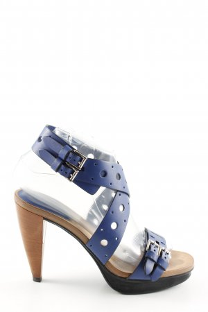 Tod's Riemchenpumps blau Party-Look