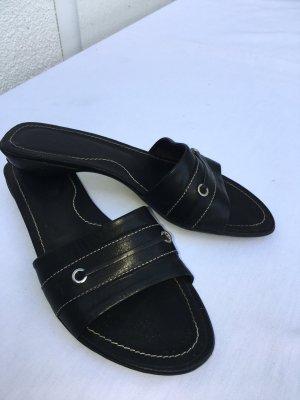 Tod's Sandalo con tacco alto e lacci a T nero