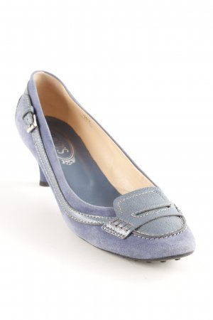 Tod's Schlüpfschuhe stahlblau-blassblau klassischer Stil