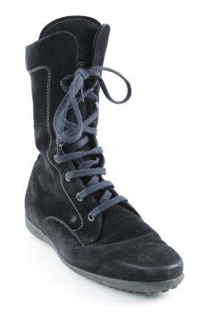 Tod's Schnür-Stiefeletten schwarz Casual-Look