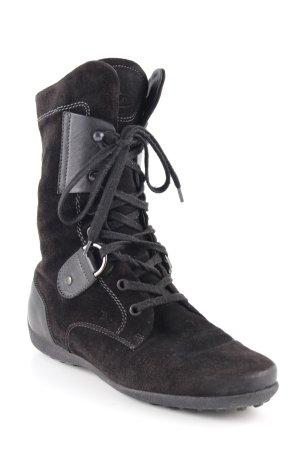 Tod's Schnür-Stiefeletten schwarz schlichter Stil