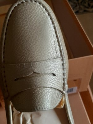 Tod's Moccasins gold-colored