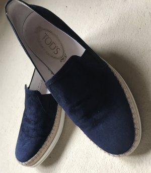 Tod's Schuhe aus dunkelblauem Wildleder