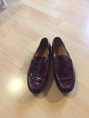 TOD's Schuhe - Größe 38,5 - Bordeaux rot mit Gummisohle
