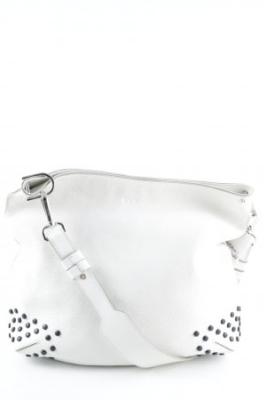 "Tod's Bolsa de hombro ""Medium Hobo Shoulder Bag Gommino White """