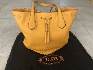 Tod's Shopper gold orange-light orange leather
