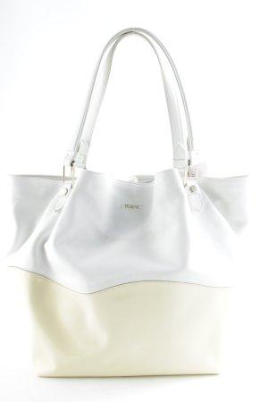 Tod's Shopper weiß-hellbeige Elegant