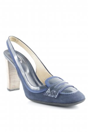 Tod's Slingback-Pumps dunkelblau Business-Look