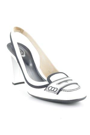 Tod's Slingback pumps wit-zwart elegant