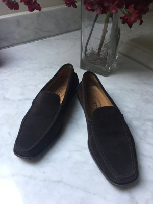 Tod's slipper Braun Wildleder Mokassins 39 penny loafer