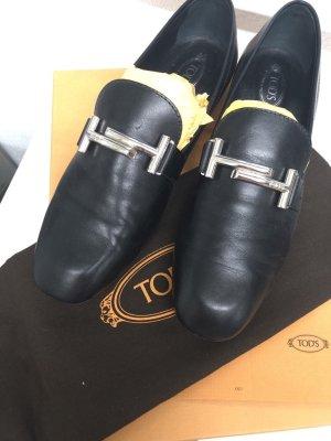 Tod's Slipper Double T Schuhe schwarz Gr. 38