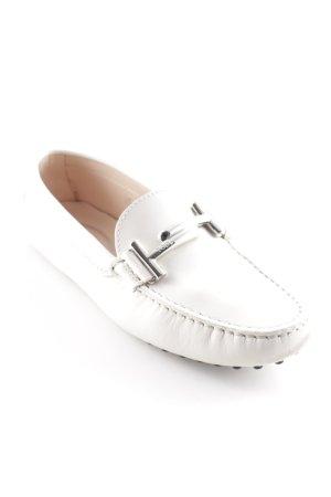 """Tod's Slippers """"Gommini Maxi Doppia T """" natural white"""