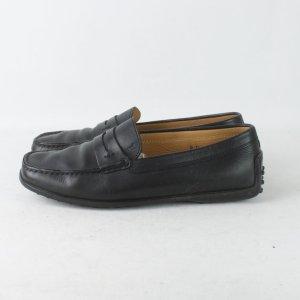 Tod's Slipper Gr. 38,5 schwarz Leder