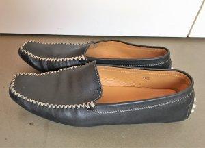 * TOD'S * Slipper Loafer Mokassins Leder dunkelblau Gr 39,5 / 40 - 40,5