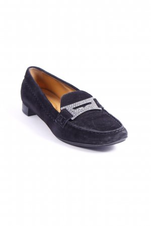 Tod's Slipper schwarz Retro-Look