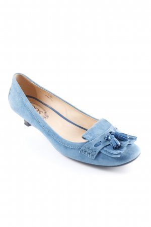 Tod's Backless Pumps cornflower blue business style