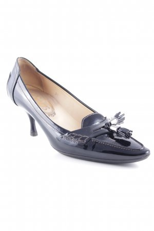 Tod's Spitz-Pumps schwarz Glanz-Optik