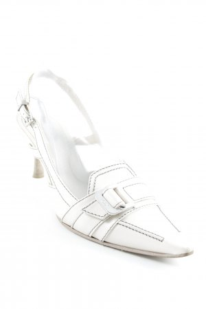 Tod's Pointed Toe Pumps white extravagant style