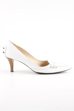 Tod's Spitz-Pumps weiß-graubraun extravaganter Stil