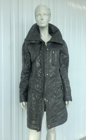 Tod's Quilted Coat dark grey polyamide