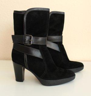 Tod's Stiefelette Boots Wildleder Leder schwarz Gr. 36 37