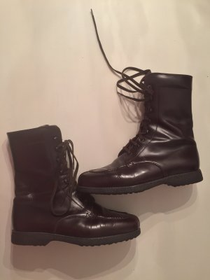 Tod's Bottines à lacets bordeau