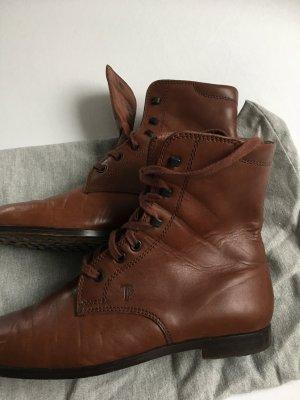 Tod's Patucos con cordones marrón Cuero